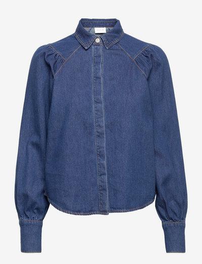 VIIRMA IDINA L/S DENIM SHIRT - langermede skjorter - medium blue denim