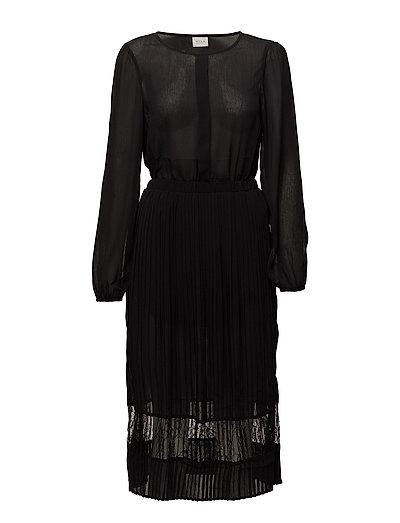 VISTELLA L/S DRESS/DC - BLACK