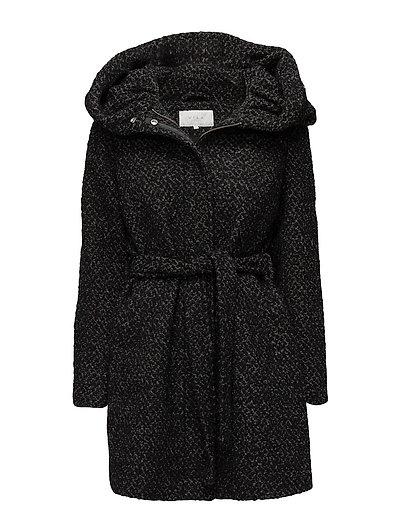VICAMA NEW WOOL COAT-NOOS - BLACK