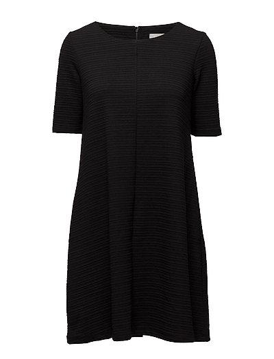 VICARO A-SHAPE JERSEY DRESS-NOOS - BLACK
