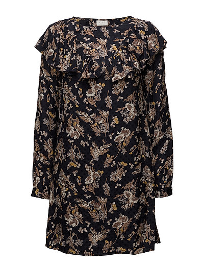 VIBETH L/S SLEEVE DRESS - TOTAL ECLIPSE