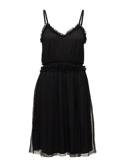VIMINDI STRAP DRESS - BLACK