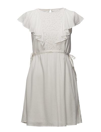 VISALMA S/S DRESS - CLOUD DANCER