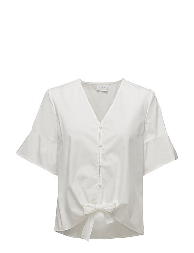 VISULLA S/S TOP - SNOW WHITE