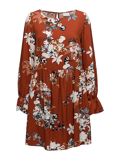 VIMEMIRA L/S DRESS/RX - ROASTED PECAN