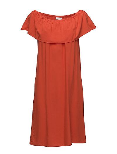VILIBA OFFSHOULDER DRESS - ORANGE.COM