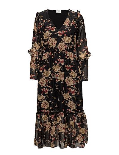 VIDALOA L/S DRESS  /RX - BLACK