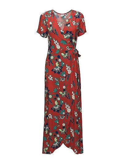 VIJULIA ESTO S/S LONG DRESS  C1 - ORANGE.COM