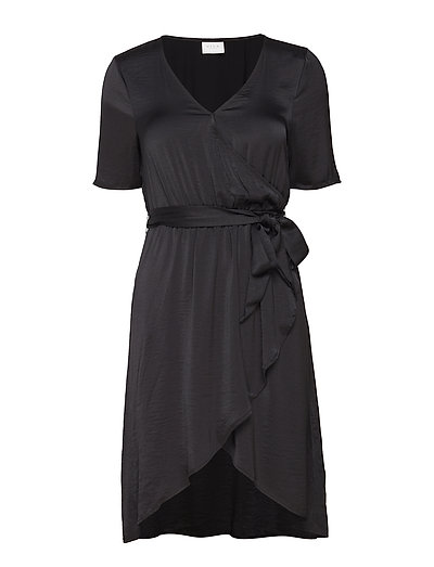 VICAVA S/S WRAP DRESS-FAV NX - BLACK