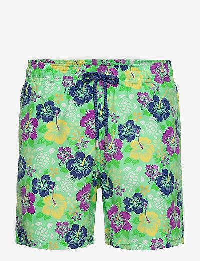 Men Swimwear Tropical turtles - shorts de bain - cardamom / green