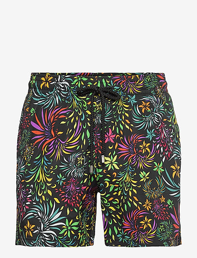 Men Swimwear Stretch Evening Birds - shorts de bain - black / black