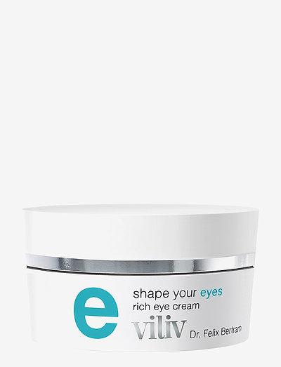viliv e - shape your eyes, rich eye cream - NO COLOUR