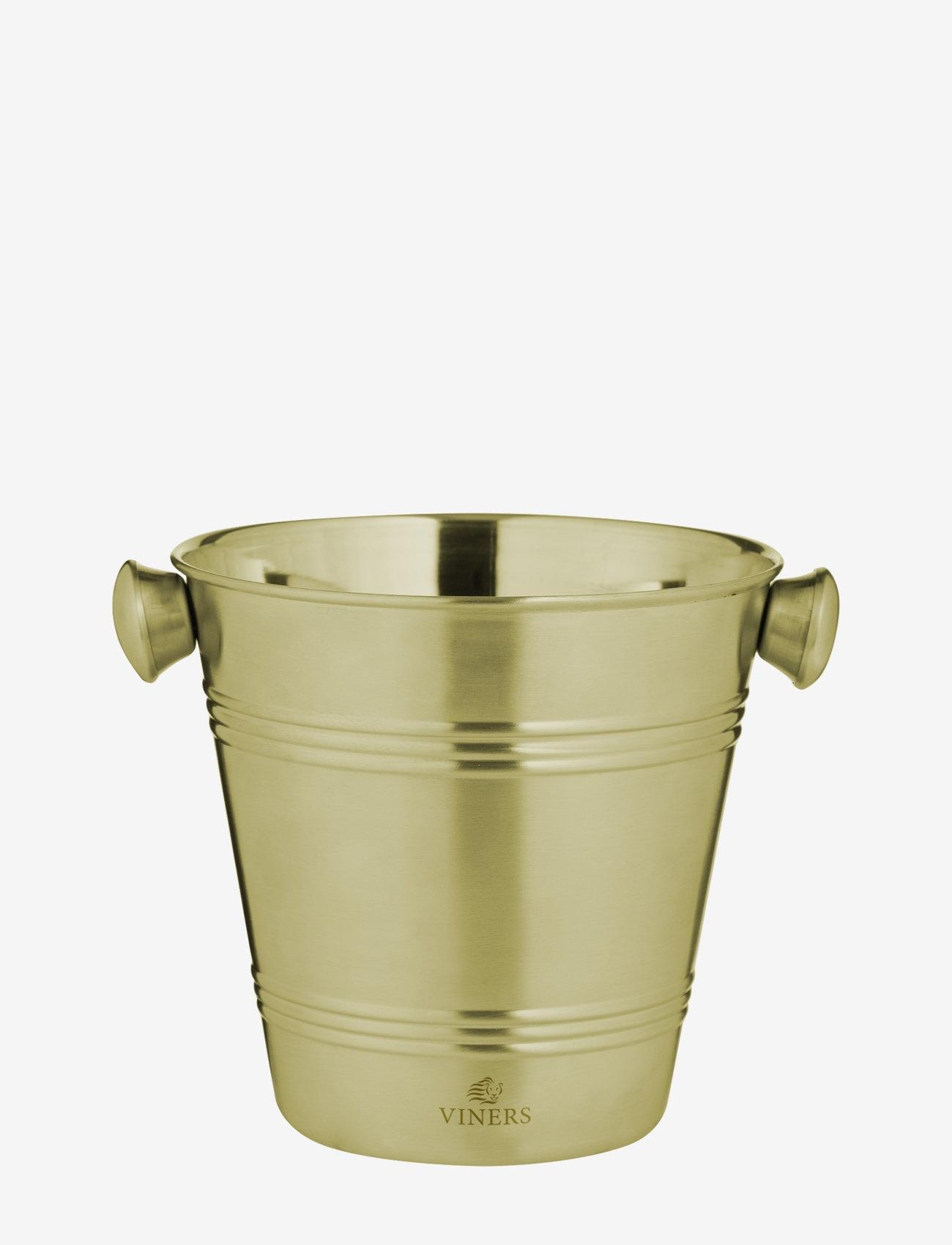 Viners - VIN BARWARE ICE BUCKET SINGLE WALL - isbøtter - gold - 0