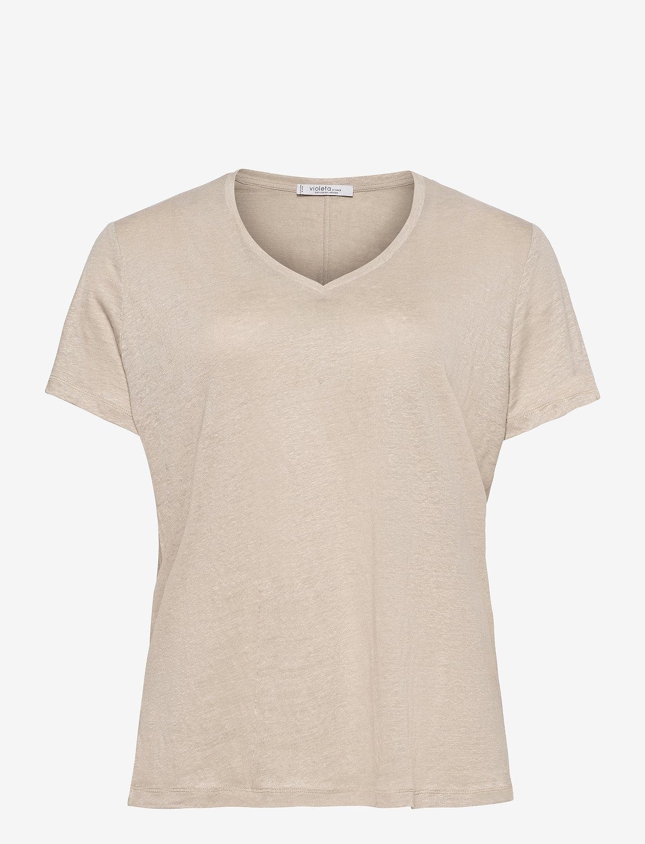 Violeta by Mango - SILVERY8 - t-shirts - sand - 0