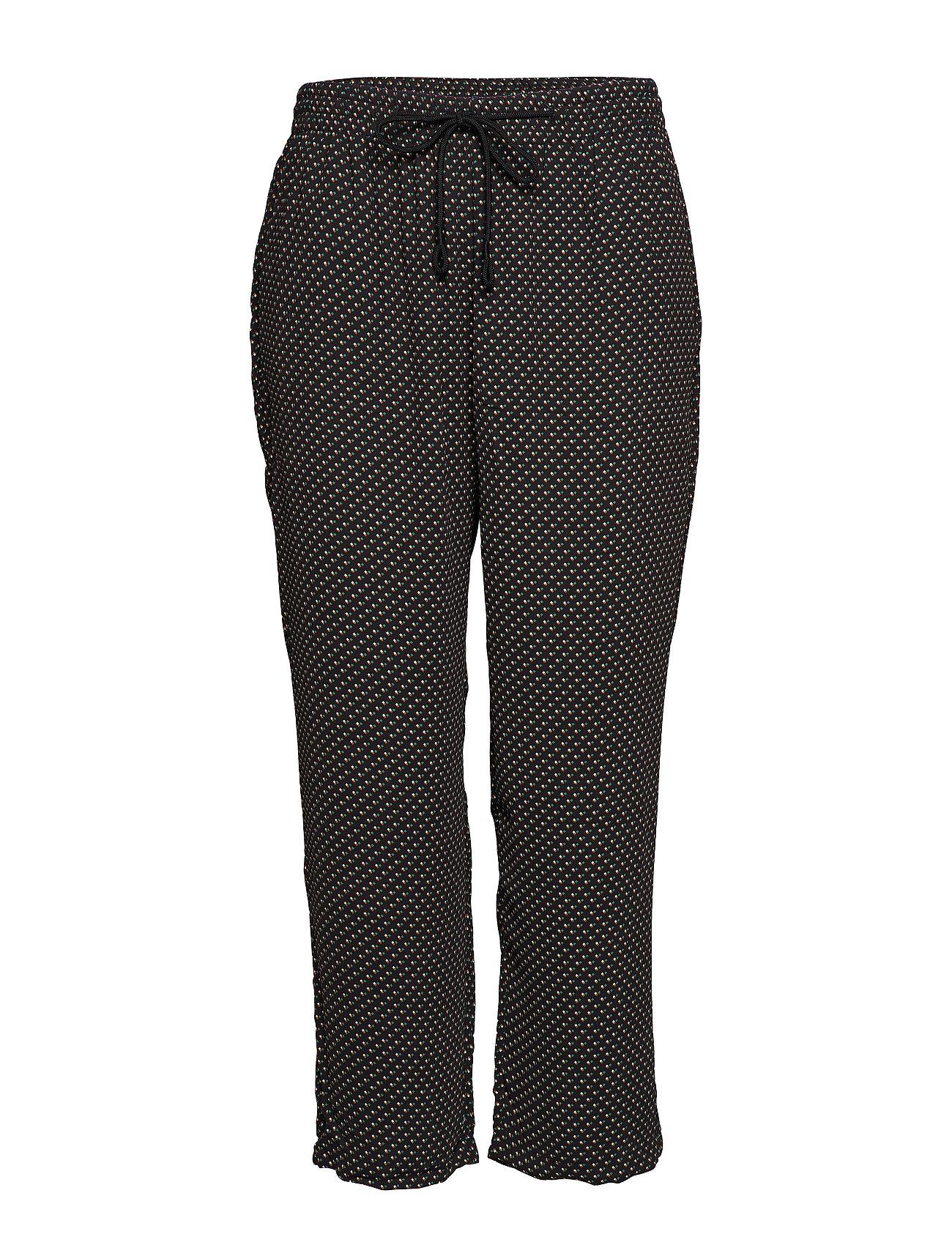 Printed Baggy Trousers Casual Bukser Sort VIOLETA BY MANGO