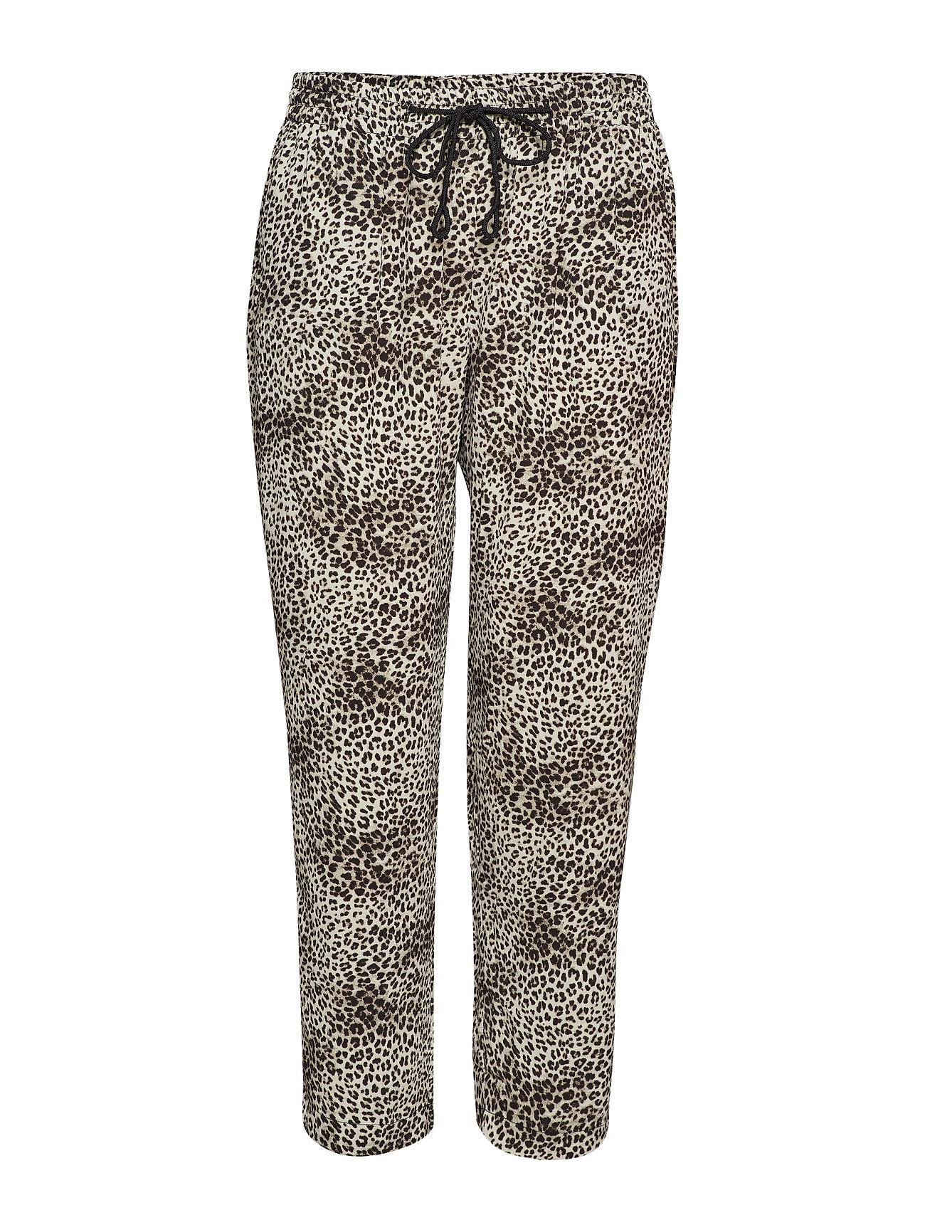 Printed Baggy Trousers Casual Bukser Multimønstret VIOLETA BY MANGO