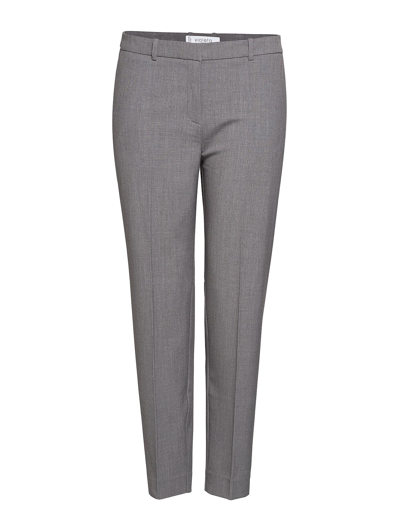 Violeta by Mango Slim-fit  trousers - MEDIUM GREY