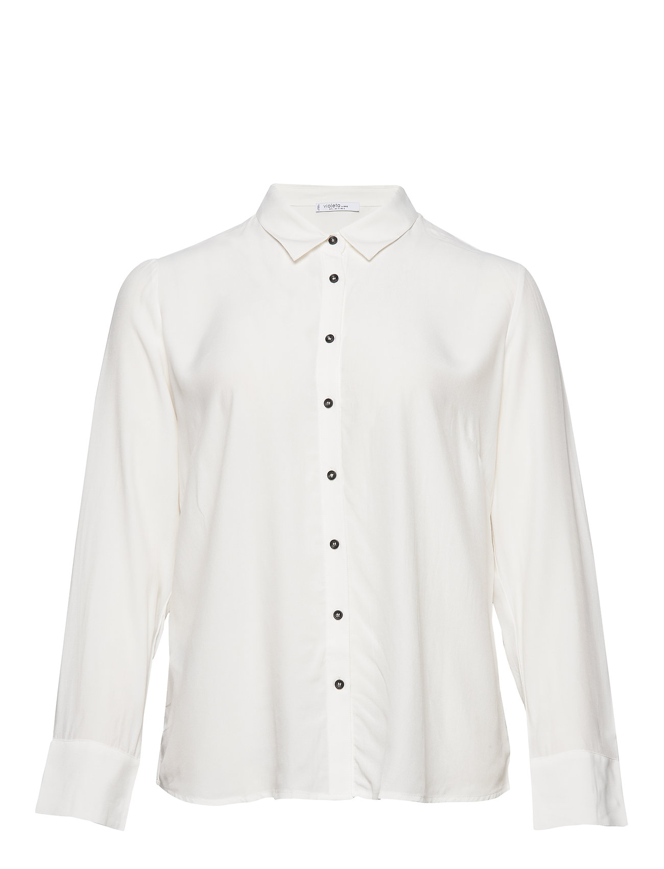 Violeta by Mango Buttoned flowy shirt - NATURAL WHITE