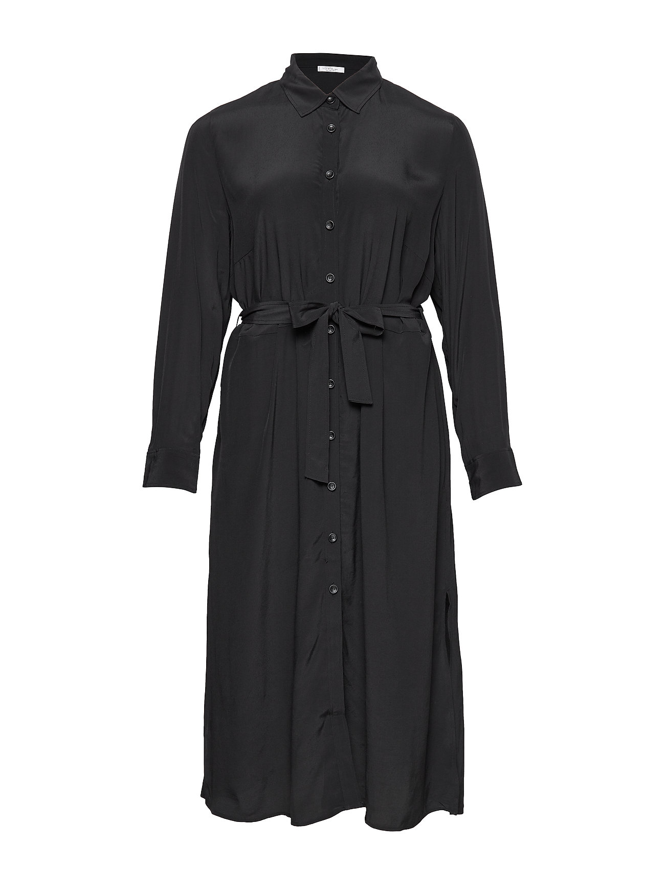 Violeta by Mango Long shirt dress - BLACK