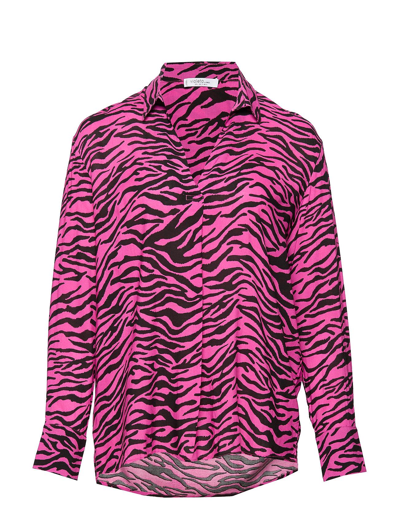 Violeta by Mango Animal print shirt - PINK