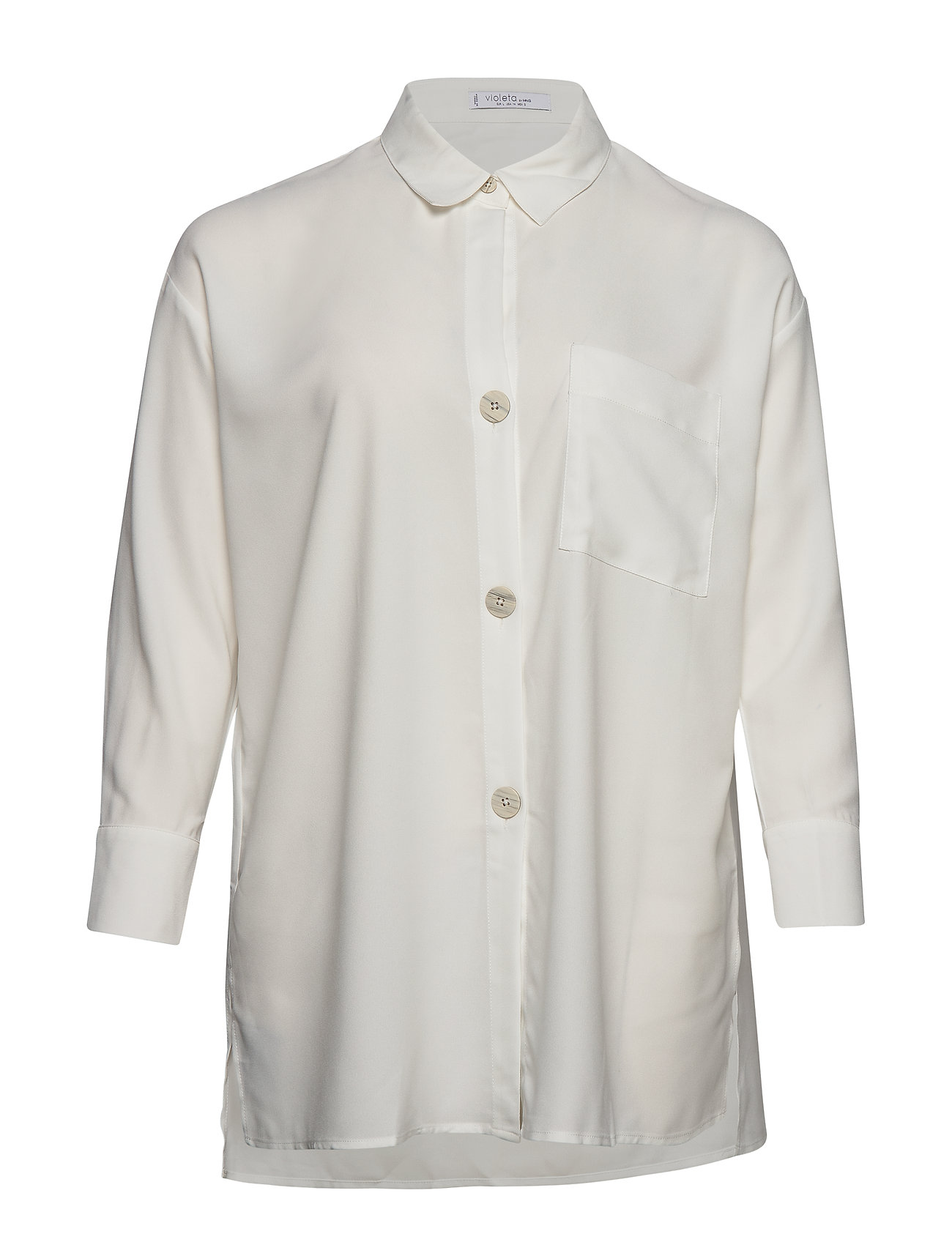 Violeta by Mango Oversized shirt - NATURAL WHITE