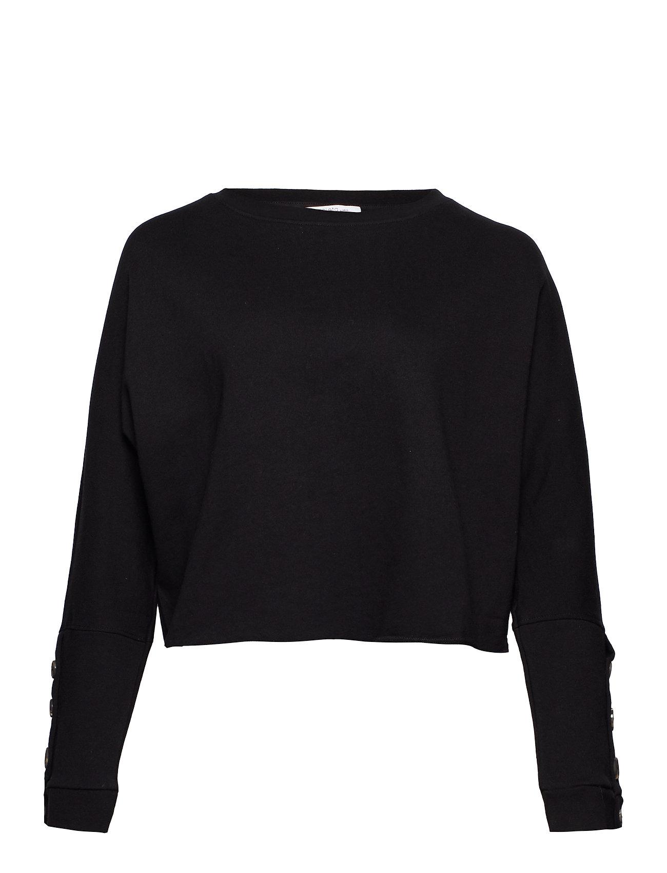 Violeta by Mango Dolman sleeve sweatshirt - BLACK