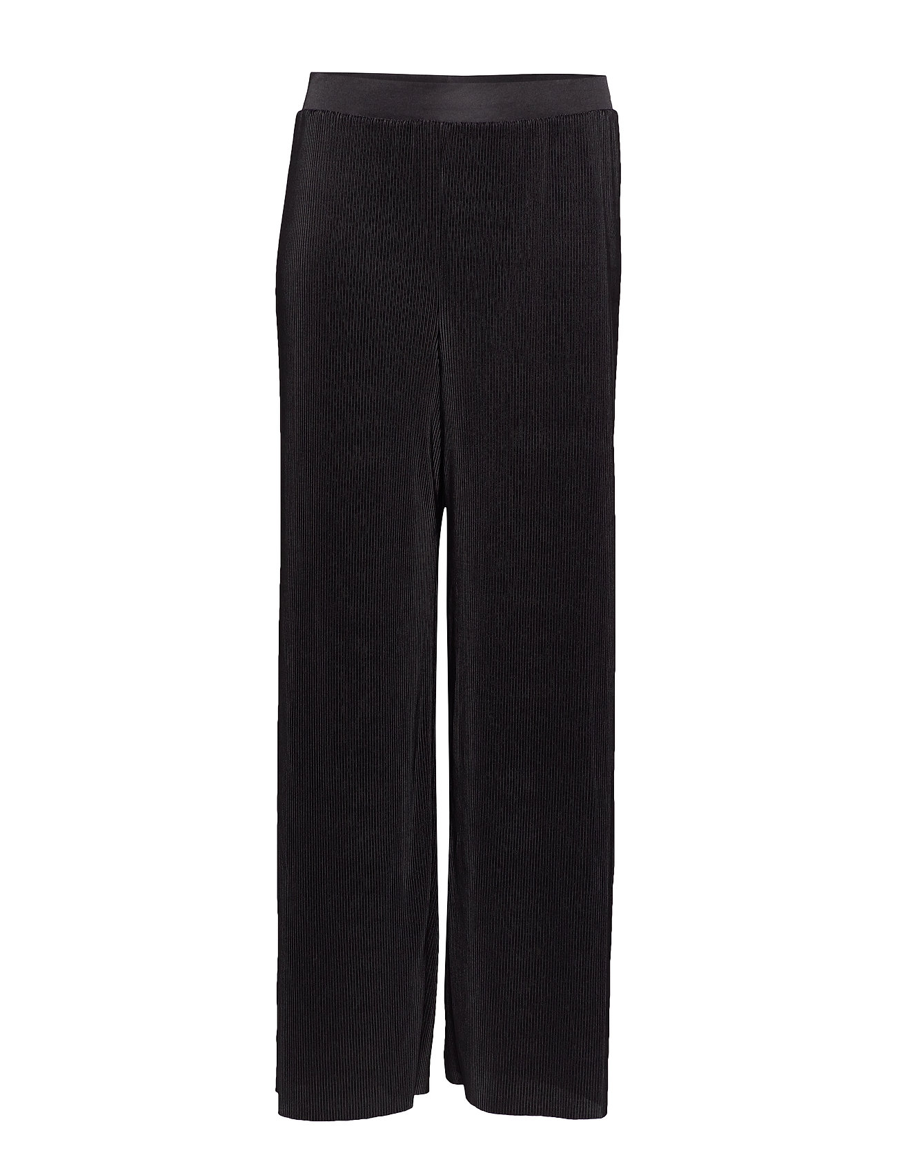 Violeta by Mango Pleated flowy trousers - BLACK