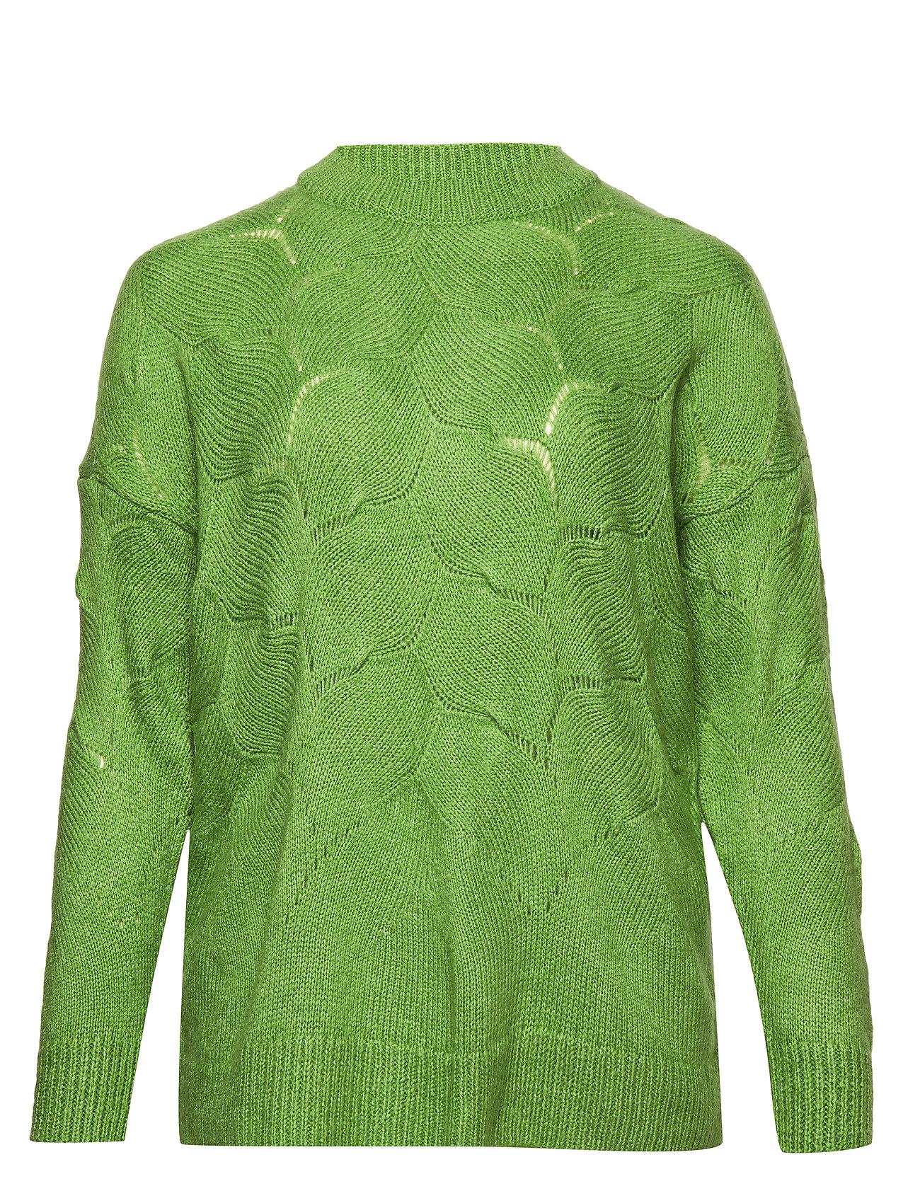 Violeta by Mango Openwork knit sweater - GREEN