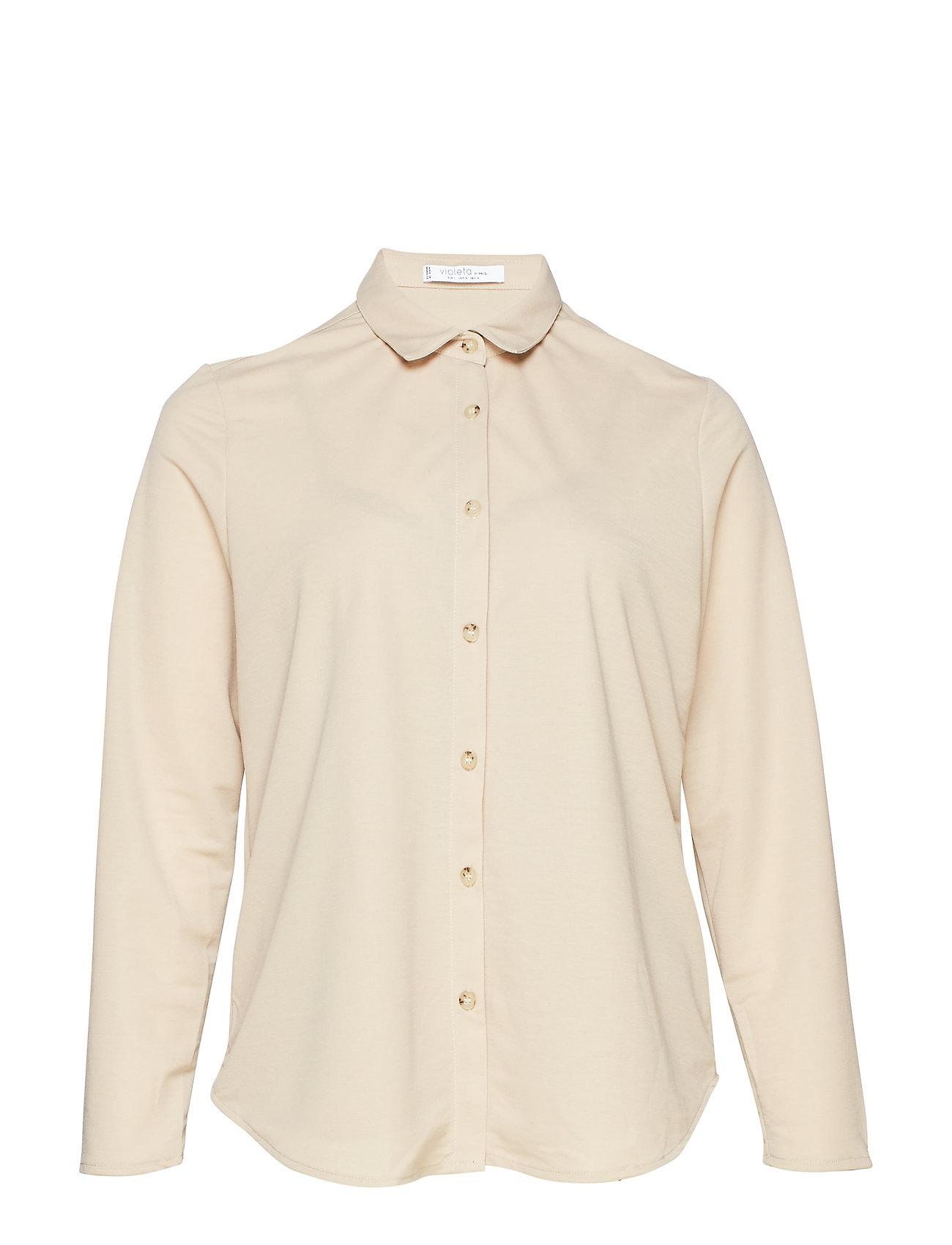 Violeta by Mango Incorporated top shirt - MEDIUM BROWN