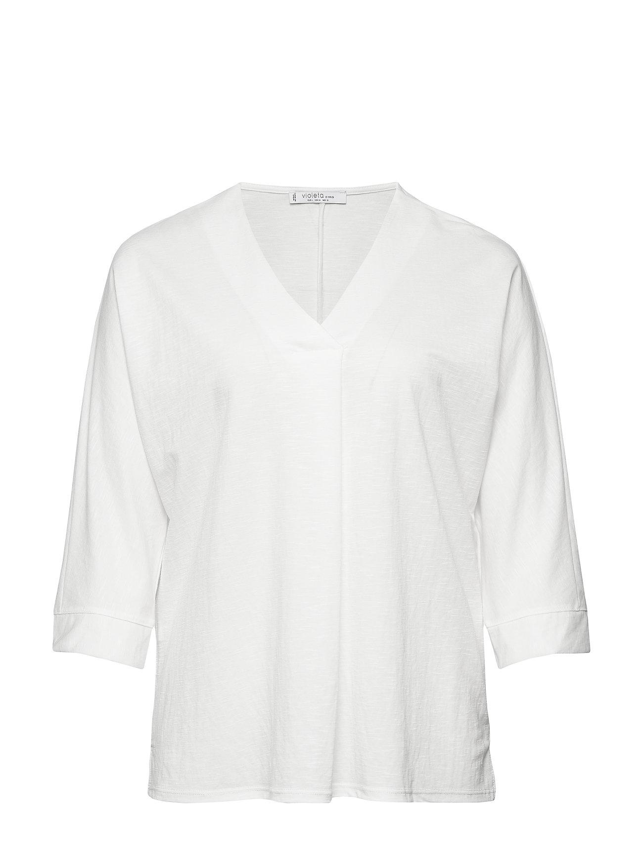 Violeta by Mango V-neck t-shirt - NATURAL WHITE