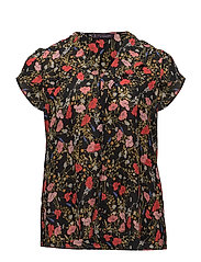 Floral print blouse - NAVY