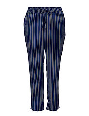 Printed baggy trousers - BRIGHT BLUE