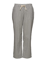 Striped baggy trousers - GREY
