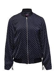 Polka dot bomber jacket - NAVY