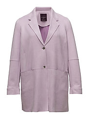 Suede effect jacket - LT-PASTEL PURPLE