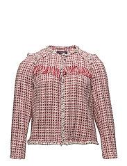 Fringed tweed jacket - RED