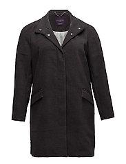 Funnel neck coat - DARK GREY