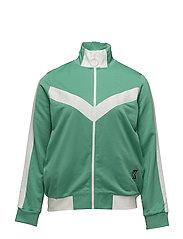 Contrast panels sweatshirt - GREEN