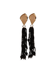 Micro beads tassel earrings - GOLD