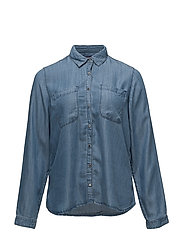 Violeta by Mango - Medium Wash Denim Shirt
