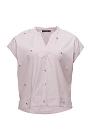 Glossed-effect appliqu blouse - PINK
