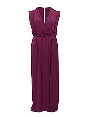 Wrapped gown - LT-PASTEL PURPLE