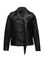 Fringe biker jacket - BLACK