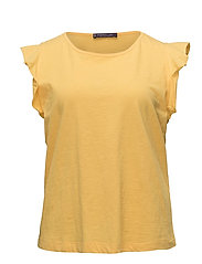Violeta by Mango - Ruffled Sleeve T-Shirt