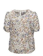 Violeta by Mango - Puffed Sleeves Floral Shirt