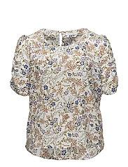 Violeta by Mango - Puffed  Sleeves Floral Shirt