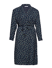 Print wrap dress - NAVY