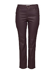 Coated slim-fit Carmen jeans - DARK RED
