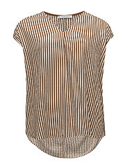 Violeta by Mango - Textured Stripe-Patterned Blouse