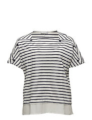 Violeta by Mango - Buttoned Striped T-Shirt